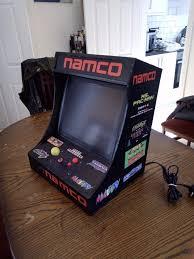 Tabletop Arcade Cabinet Bartop Arcade Cabinet Homemade Namco Ms Pacman Galaga Ecc In