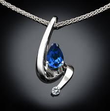 blue sapphire necklace pendant images Blue sapphire necklace blue sapphire pendant september jpg