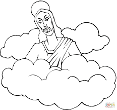 cloud coloring pages kids holidays rainbow free 9 mintreet