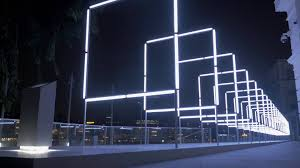 160 interactive light sound installation