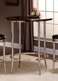 Espresso Bistro Table Hillsdale Maddox Shiny Nickel Bar Height Bistro Table 5172 840