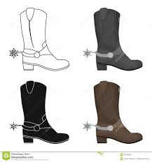 s boots usa cowboy s boots icon in style on white background usa