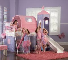 Princess Dog Bed With Canopy by Powell Princess Castle Twin Size Tent Bunk Bed With Slide 374 069