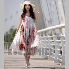 fashion ladies maxi dress boho bohemian chiffon dress summer