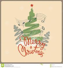 merry song post card royalty free stock photography