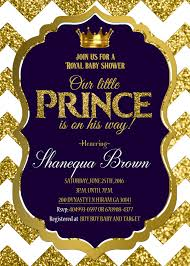 baby shower sports invitations for boy royal baby shower invitation royal prince gold royal prince