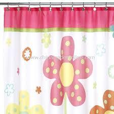 Curtain Dancing Daintree Fabric Shower Curtain Dancing Flowers Fabric Shower
