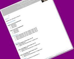 Free Resume Download Template Web Developer Cv Etsy