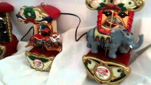 Mr Christmas Ornament - mr christmas carousel ornaments circus animals horse tiger