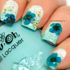 nail art u2013 floral design with dry flowers my nail polish online