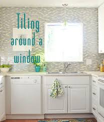 how to cut ceramic tile around kitchen cabinets tiling around a window centsational style