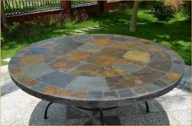 slate outdoor dining table large round patio table looking for 63 round slate outdoor patio