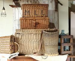 big wicker baskets hold vintage charm home u0026 garden eugene oregon