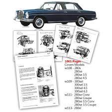 mercedes car manual mercedes workshop service manual w108 w109 w111 w113 280se 3 5 4 5