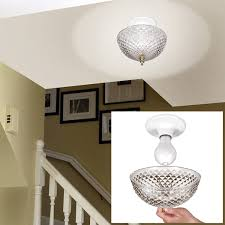 Ceiling Fan Light Globes by Clip On Light Shade Diamond Cut Acrylic Dome Lightbulb Fixture