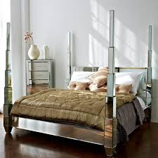 Glass Mirrored Bedroom Set Furniture Mirrored Glass Bedroom Furniture Vivo Furniture