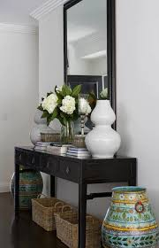 furniture entryway table and mirror long modern hallway console