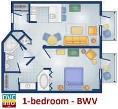 Bay Lake Tower One Bedroom Villa Floor Plan Disney U0027s Boardwalk Villas Dvcinfo Com