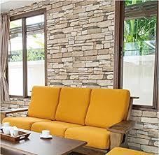 amazon com natural stacked stone brick pattern vinyl contact