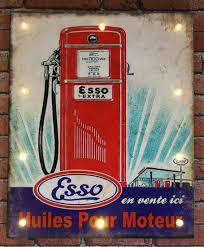 pompe essence vintage panneau lumineux pompe à essence