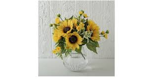 silk sunflowers silk sunflowers fall porch decor from popsugar home