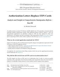 research u0026 whitepapers authorization letters replace itin cards