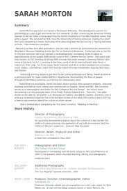 Narrative Resume Samples by Director Of Photography Resume Samples Visualcv Resume Samples