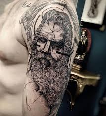 7 best greek god tattoo images on pinterest statue tattoo zeus