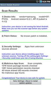 secure settings apk secure update scanner apk free tools app for android