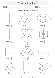 color fractions in basic shapes introduction to understanding