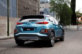 crossover cars 2017 hyundai kona compact suv new crossover vehicle model photos rear