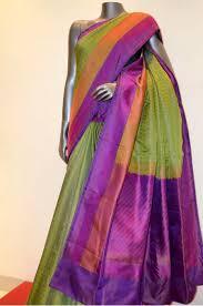 Muted Green by Muted Green Jamawar Pure Silk Saree Jamawar Sarees
