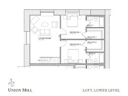 open floor plans with loft floor plans the union mill
