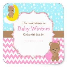 baby shower bookplates stickers zazzle