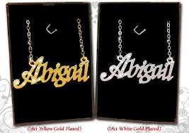 Name Plate Jewelry Name Necklace 18k Gold Plated Jewellery Gifts Personalised Fashion