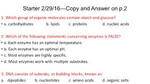 starter 01 26 16 copy and answer on p 2 ppt download