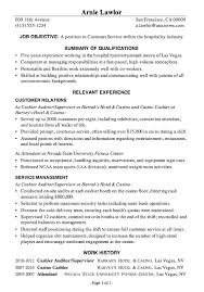 Resume Objective Example For Customer Service by Resume Sample Customer Service Hospitality Debt Free Pinterest