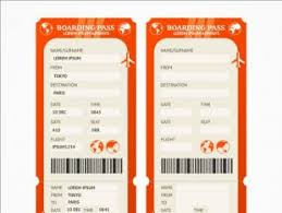 airplane ticket template free vectors ui download