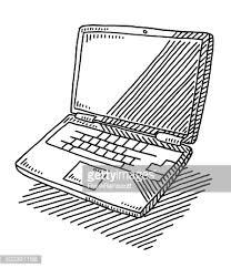 laptop doodle vector art getty images