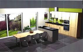 cuisine avec ilot table impressionnant cuisine avec table integree et cuisine ouverte avec