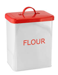 kitchen flour canisters white red kitchen canister flour
