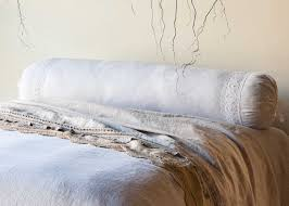 bolster pillow white mesh linen long bolster pillow bella