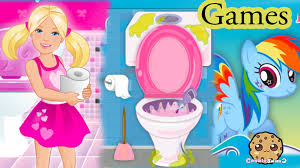 my little pony rainbow dash barbie potty training frozen elsa