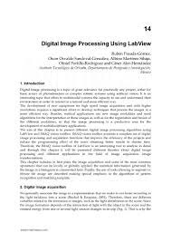 digital image processing using lab view