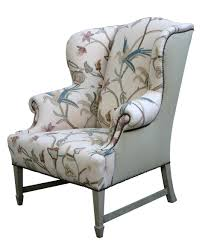 Fabrics And Home Interiors by Home Interior Contemporary Light Gray Wing Back Chair With Steel
