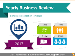 annual review report template 22 icons 12 diagrams to boost yearly business presentation