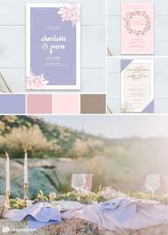 periwinkle and pink wedding color combo inspired by the