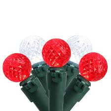red and white bulb christmas lights set of 50 red pure white led g12 berry christmas lights 4 bulb