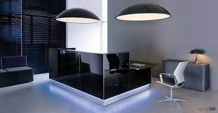 Reception Desk Black Lina Black Glass Reception Desk Order Now From Spaceist