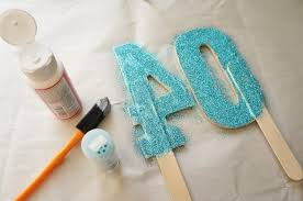 cake topper numbers diy glittered number cake topper diy inspired